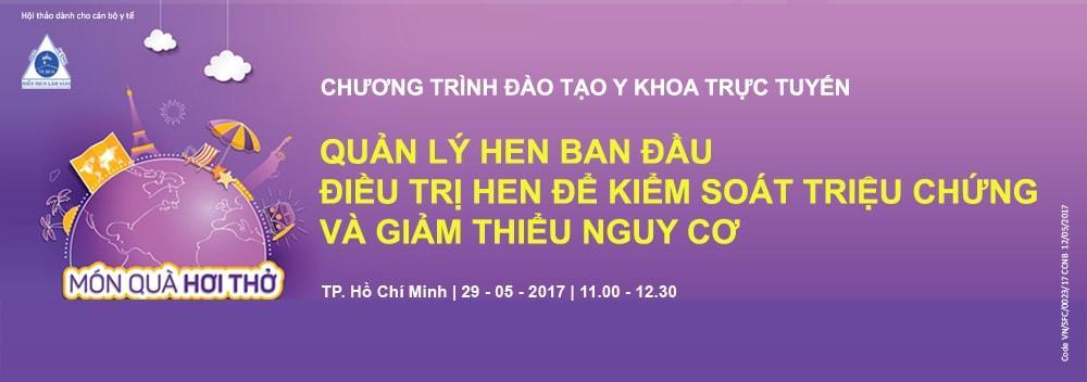 Chương trình Hội thảo Hen và đào tạo y khoa trực tuyến ngày 29/05/2017