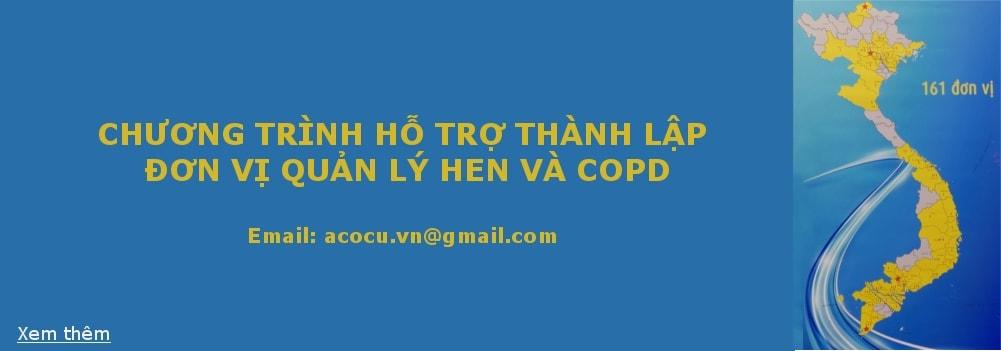 Thông báo v/v Hỗ trợ thành lập đơn vị Quản lý Hen và COPD ngoại trú - ACOCU